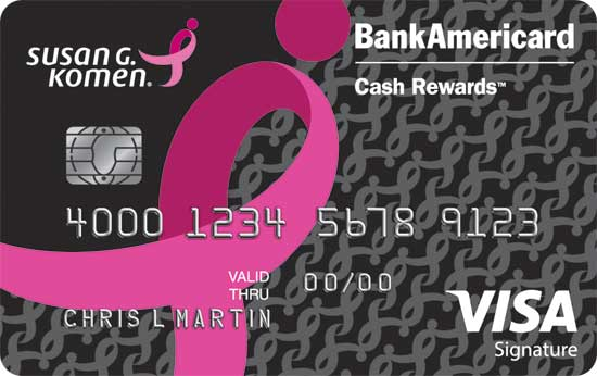 Bank of america susan g komen pink ribbon credit card ccuart Gallery